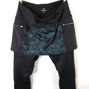 Athleta Pants/Skirted Leggings 2 in 1 w Pockets